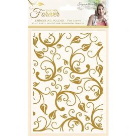 Crafters Companion - Together Forever Vine Leaves 5x7 Embossing Folder